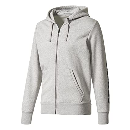 meet a5d4d 508ac Amazon.com  adidas ESS Linear FZ Hood Hoody Jacket Men Hooded Jacket  Sweatjacket Grey, SizesXXL  Sports  Outdoors
