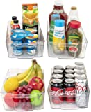 JinaMart Refrigerator Organizer Bins | Fridge Storage Bins | Organizer Bins For Freezer & Fridge Set of 4 Large Packs…