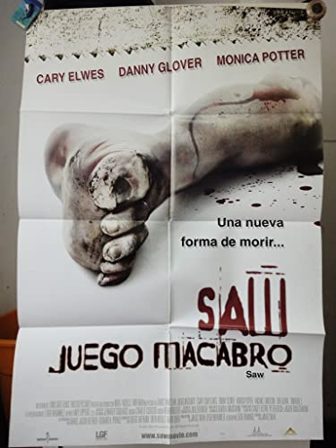 Original Mexican Movie Poster Juego Macabro Saw Cary Elwes Danny