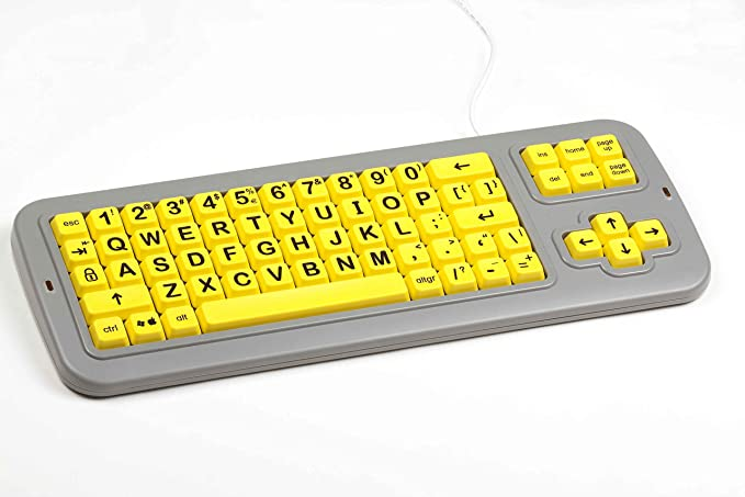 102780 Clevy Color Coded Norwegian Computer Keyboard with Uppercase//Lowercase White Lettering