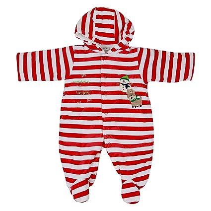 7dd5832c4 Baby Grow Coral Fleece Winter Boy Girl Hooded Rompers Suit Cartoon ...