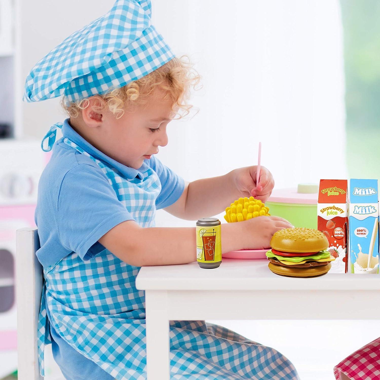 K/üchen Spielzeug Set Bildungsspielzeug F/ördert fantasievollen kreativen Spa/ß /& Stunden der Spielzeug Essen P/ädagogisches Lernen Spielzeug 150 St/ück K/üche Spielzeug Lebenmittel