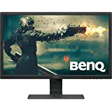 BenQ 24 Inch 1080P Monitor | 75 Hz for Gaming | Proprietary Eye-Care Tech |Adaptive Brightness for Image Quality | GL2480,Bla