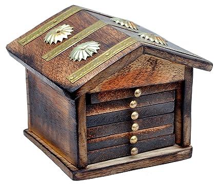 Genius Bird Wooden Hut Tea Coaster Set