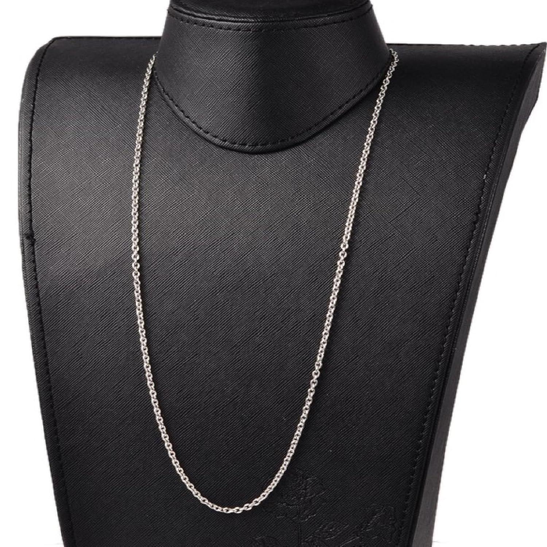 Fine catenina in acciaio inox 70 cm x 1,5 mm in accaio inox da uomo e donna collana in acciaio inossidabile