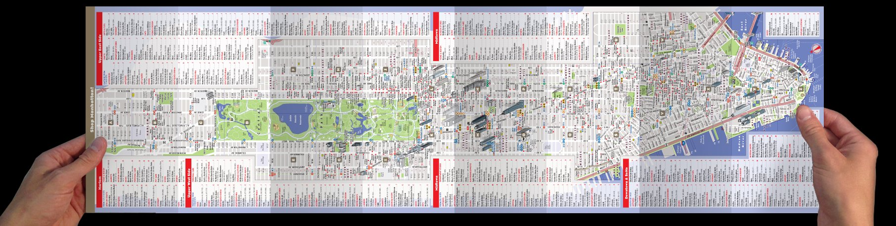StreetSmart NYC Map By VanDam Top City Shops Map Of Manhattan - Nyc unfolds map