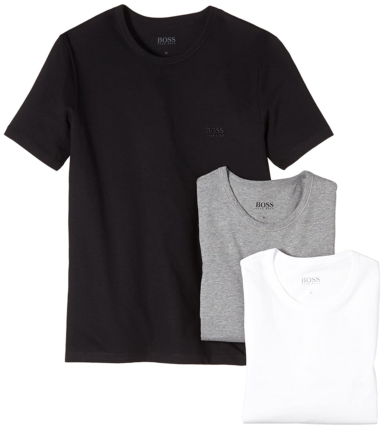 a5a12c5c BOSS Hugo Boss Men's Crew Neck T-Shirts: Amazon.co.uk: Clothing