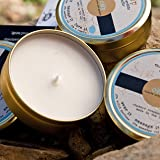 THE WEARABLE CANDLE Handmade Organic Coconut Wax Candle - Gifted (White Tea + Fig + Tobacco) 18 Hour Tin