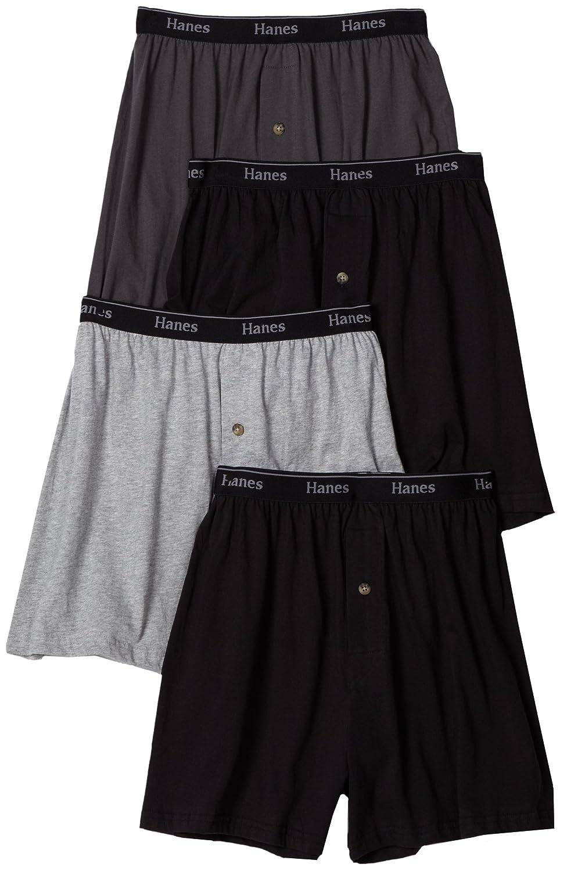 beb74ec0105a Hanes Ultimate Men's 4-Pack Classics Comfort Soft Waistband Knit Boxer  Underwear at Amazon Men's Clothing store: Boxer Shorts