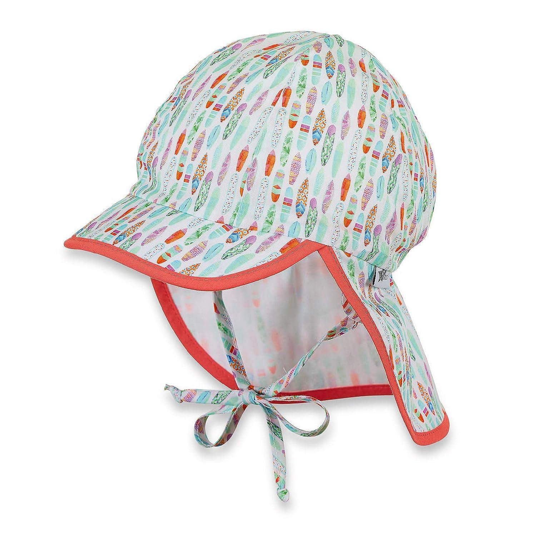 Sterntaler Bonnet avec visière, Cordons à nouer et protège-cou, Vert menthe
