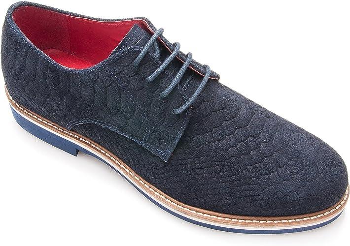 Zerimar Herren Geprägter Lederschuh Schuhe für Herren,Schuhe