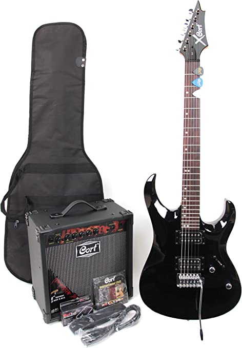 Cort X-1 - Guitarra eléctrica (calibre de cuerdas: 9-42, incluye ...