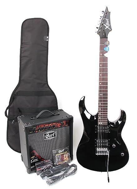 Cort X-1 - Guitarra eléctrica (calibre de cuerdas: 9-42,