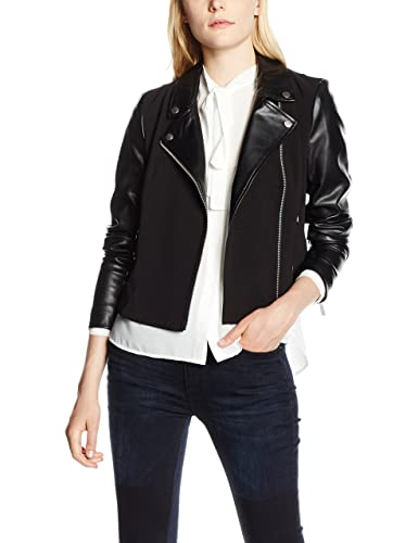 French Connection Alana Mix Ls Biker Jacket, Chaqueta para Mujer