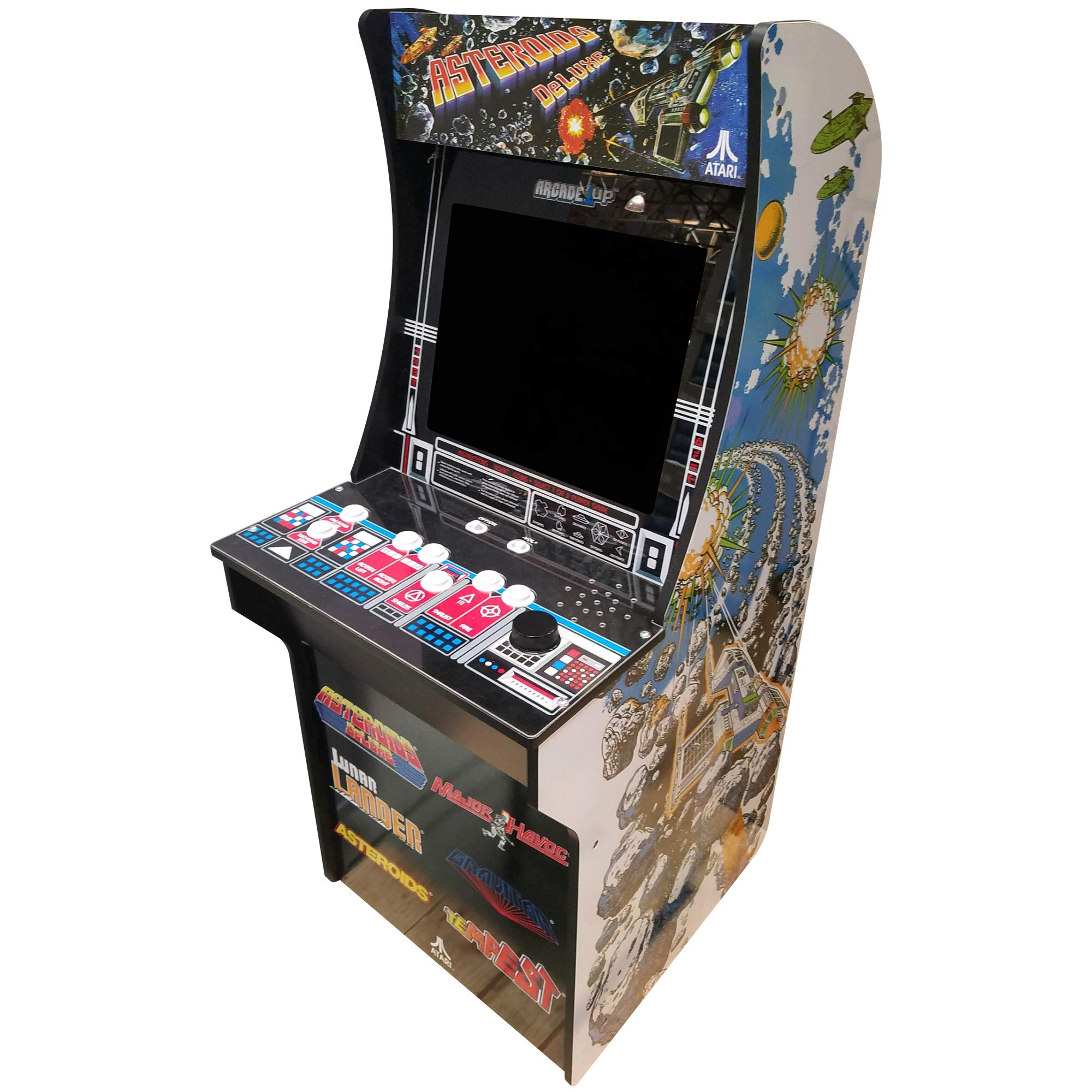 Creative Arcades 6 in 1 Atari Cabinet Arcade 1Up Machine for Home | 6 Classic Games Pre-Installed | Plug and Play - Fully Assembled | 1 - 2 Player | Stool Included | 17'' Screen | Coinless Operation by Creative Outdoor Distributor (Image #2)