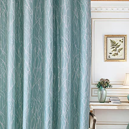 Amazon Com Blackout Lined Mint Green Curtains Valance Anady Top 2
