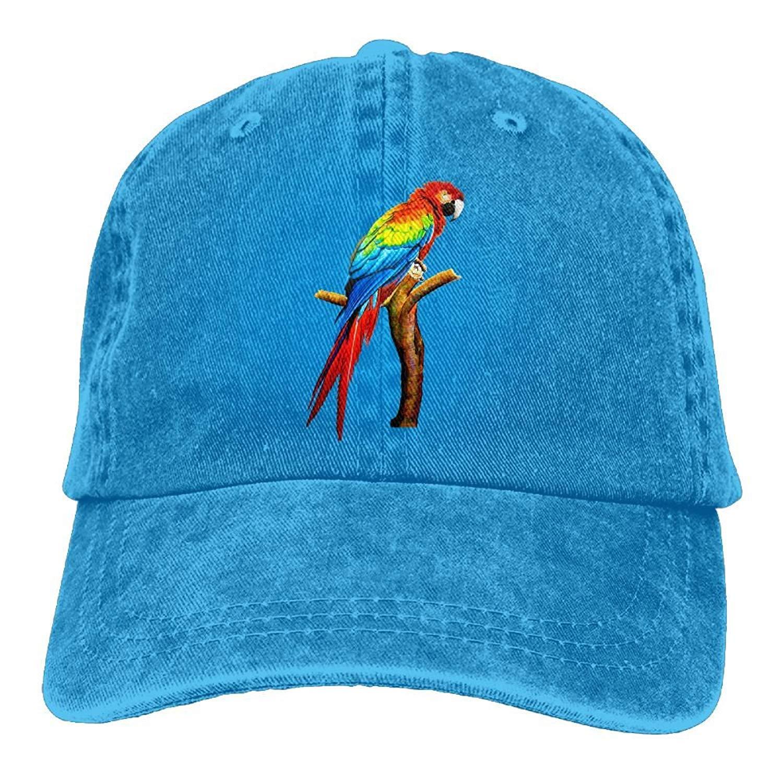 Gorgeously Parrot Denim Baseball Caps Hat Adjustable Cotton Sport Strap Cap for Men Women