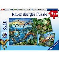 Ravensburger 9317 Dinosaur Fascination Puzzle 3x49 Pc,Children's Puzzles