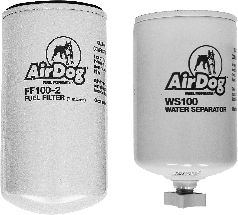 AirDog PureFlow Replacement Fuel Filter /& Water Separator FF100-2 /& WS100
