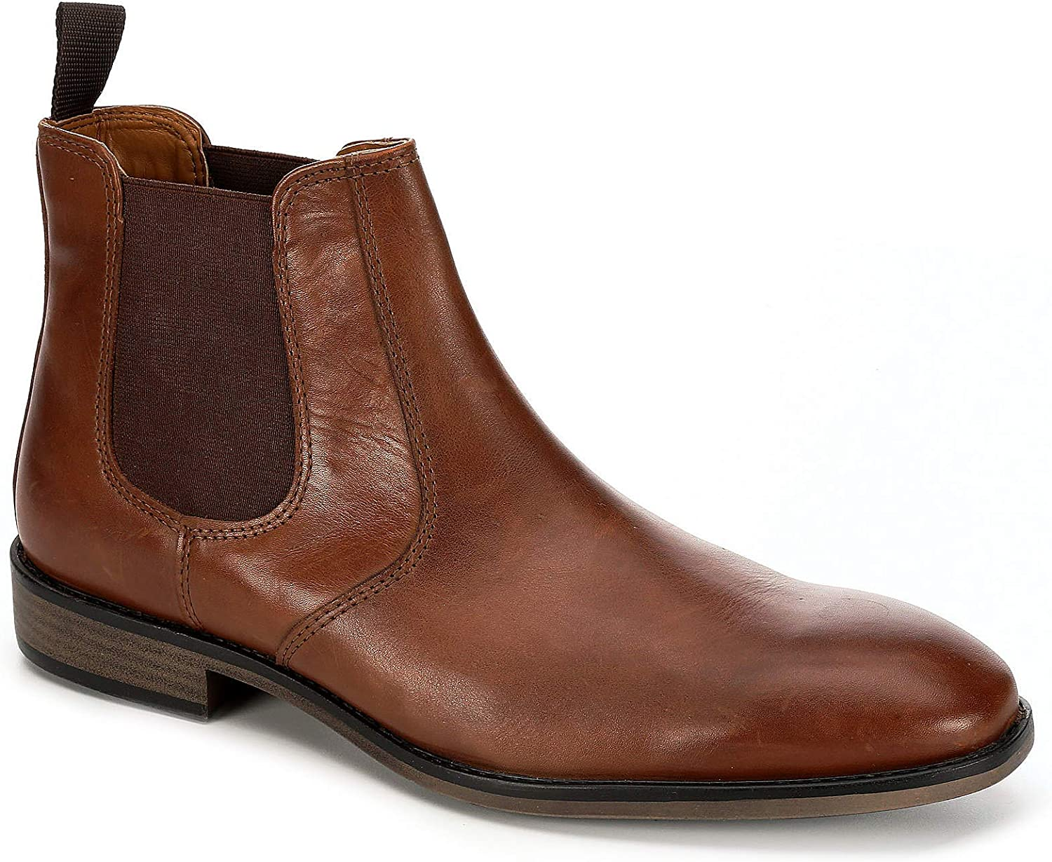 Franco Fortini Mens Trevor Chelsea Leather Ankle Boot Shoes