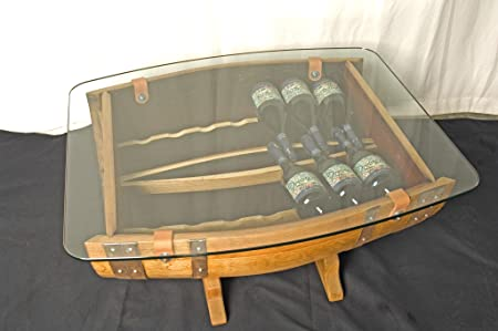 The Griffiths Barrel Coffee Table Wine Rack 14 bottle Amazon