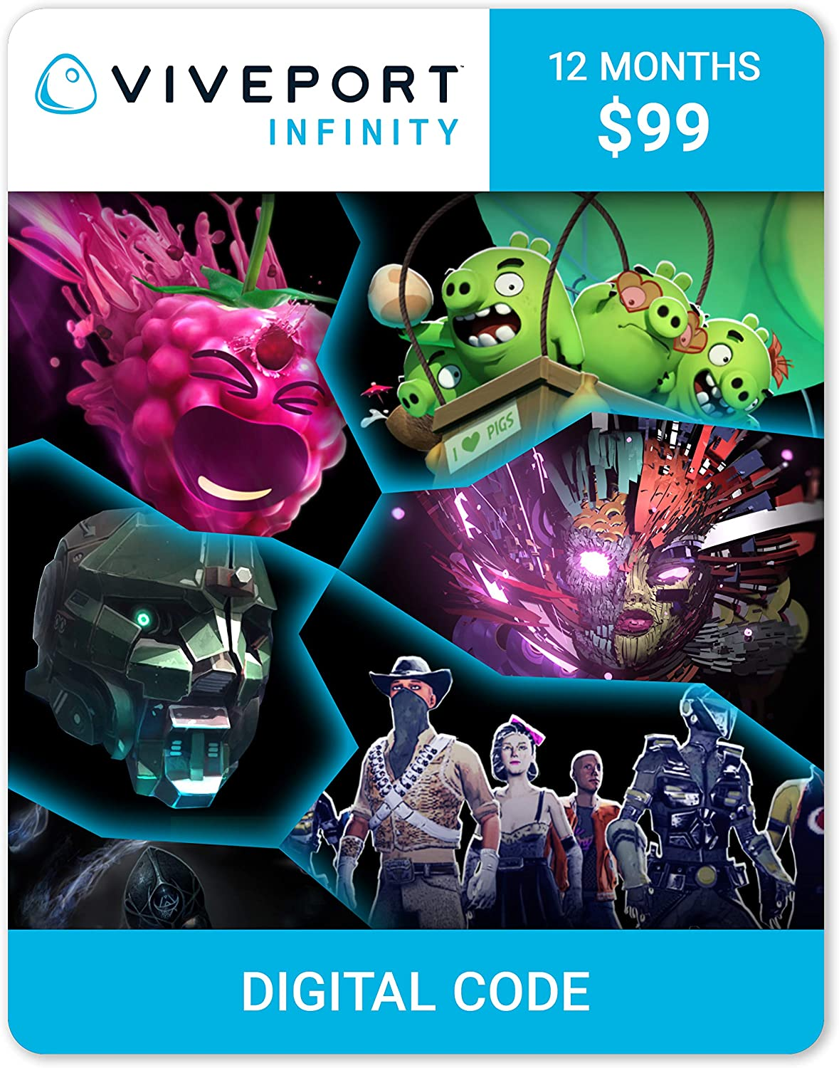 Amazon com: Viveport Infinity: 12-month Access (Digital Code
