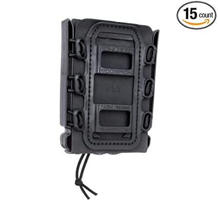 KRYDEX 9mm Mag Pouch Soft Shell Pistol Pouches Tactical Magazine Carrier Tall