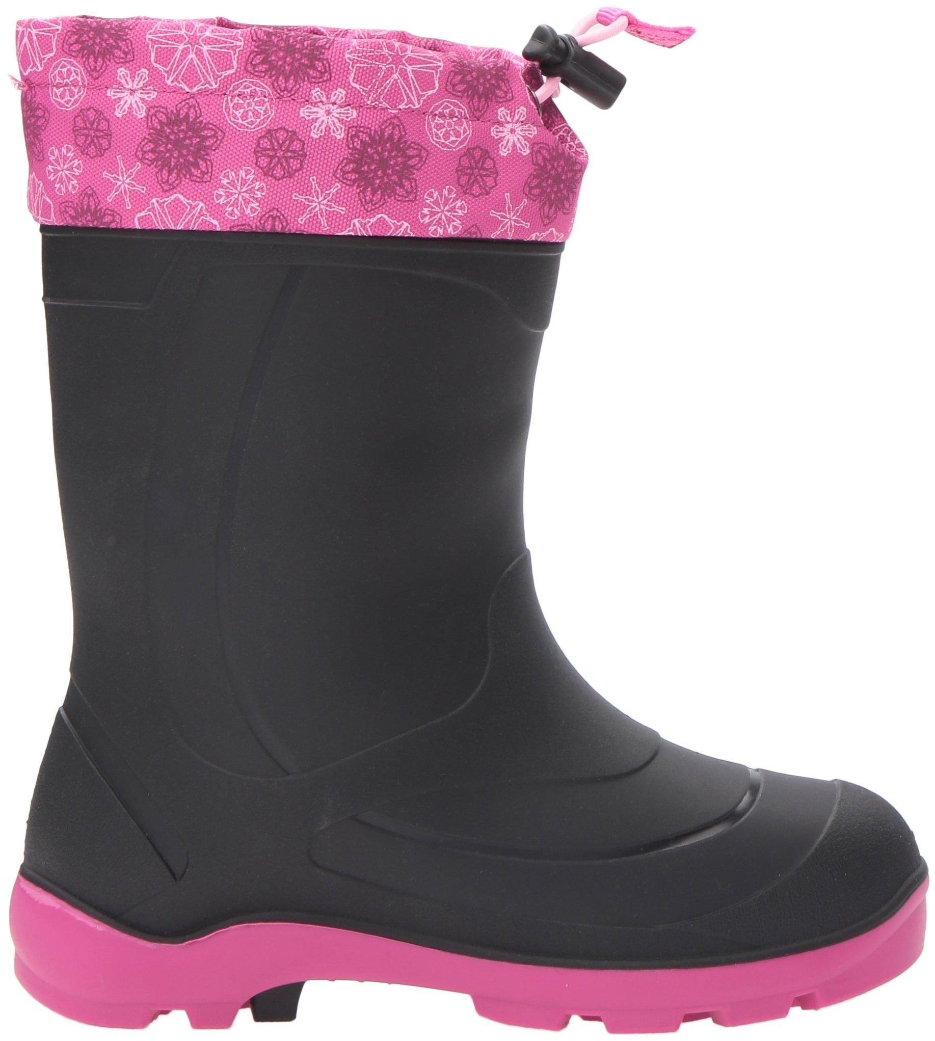 Kamik Kids' Snobuster2 Snow Boot Black/Magenta 9 M US Toddler by Kamik (Image #7)