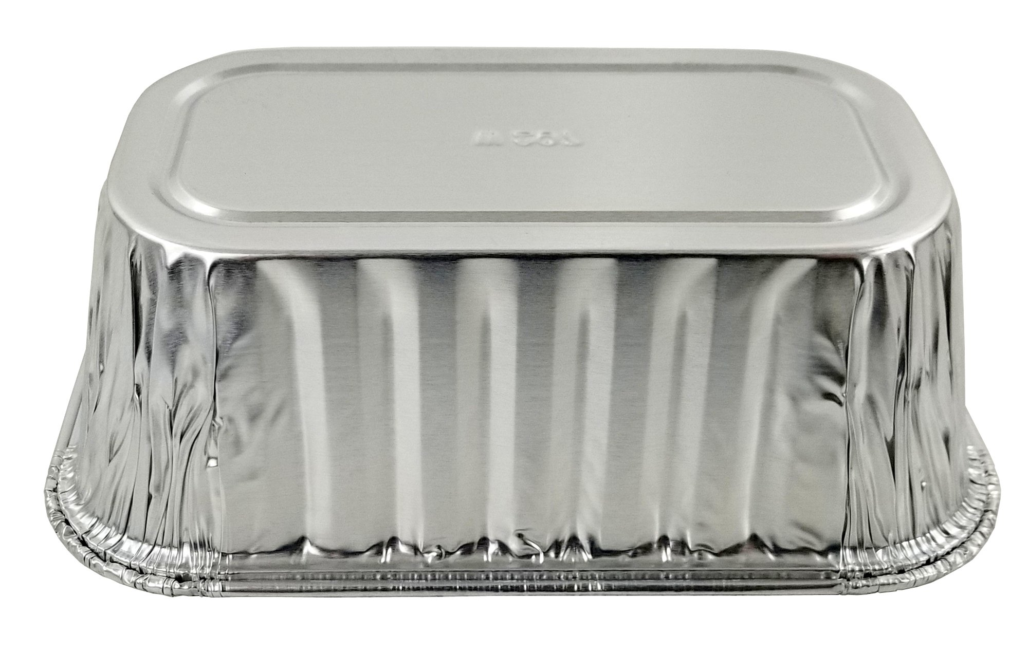Pactogo Disposable 1 lb. Aluminum Foil Mini Loaf Pans with Clear Dome Lids (Pack of 100 Sets) by PACTOGO (Image #9)