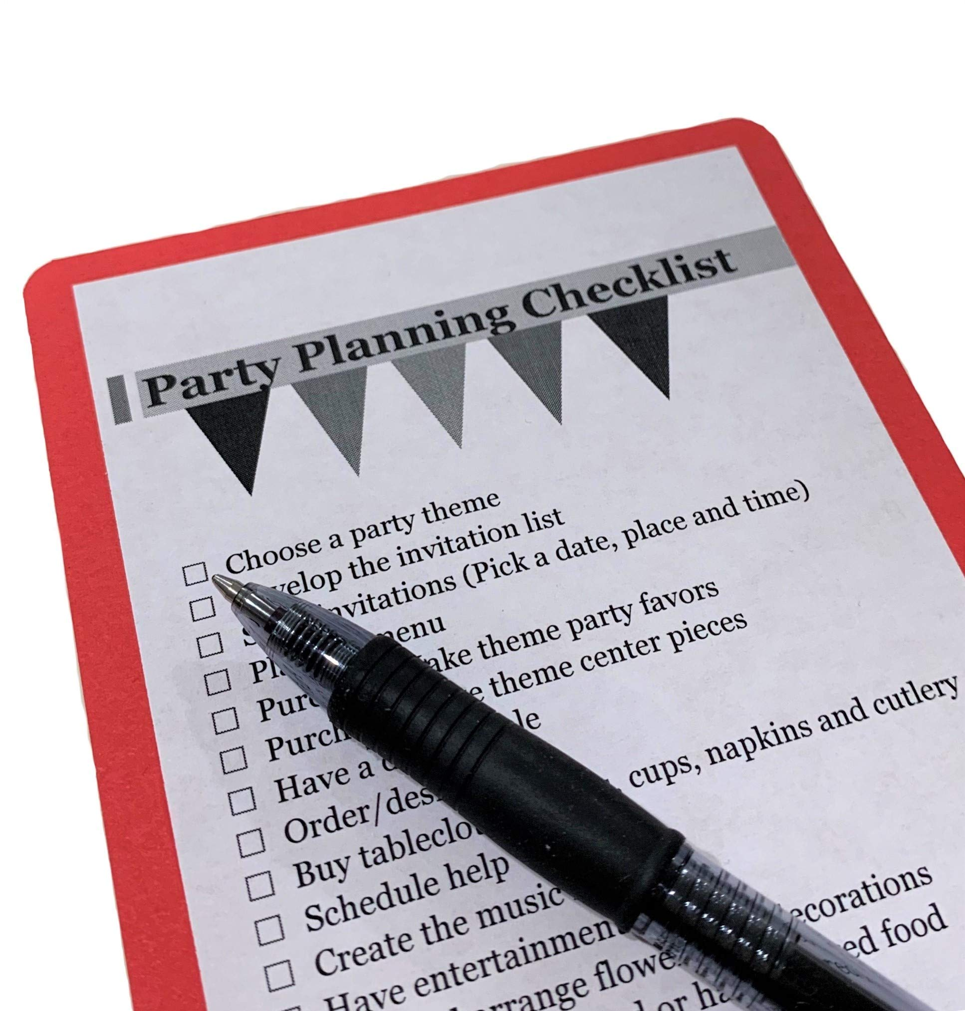 Classic RED Beverage Napkins (100-count) and Classic RED Dinner Napkins (100-count), and Comes with a Party Planning Checklist by Creative Converting Touch of Color