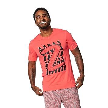 Zumba Fitness® ZRep My Style Graphic tee Camisetas, Hombre, Rosa, S: Amazon.es: Zapatos y complementos