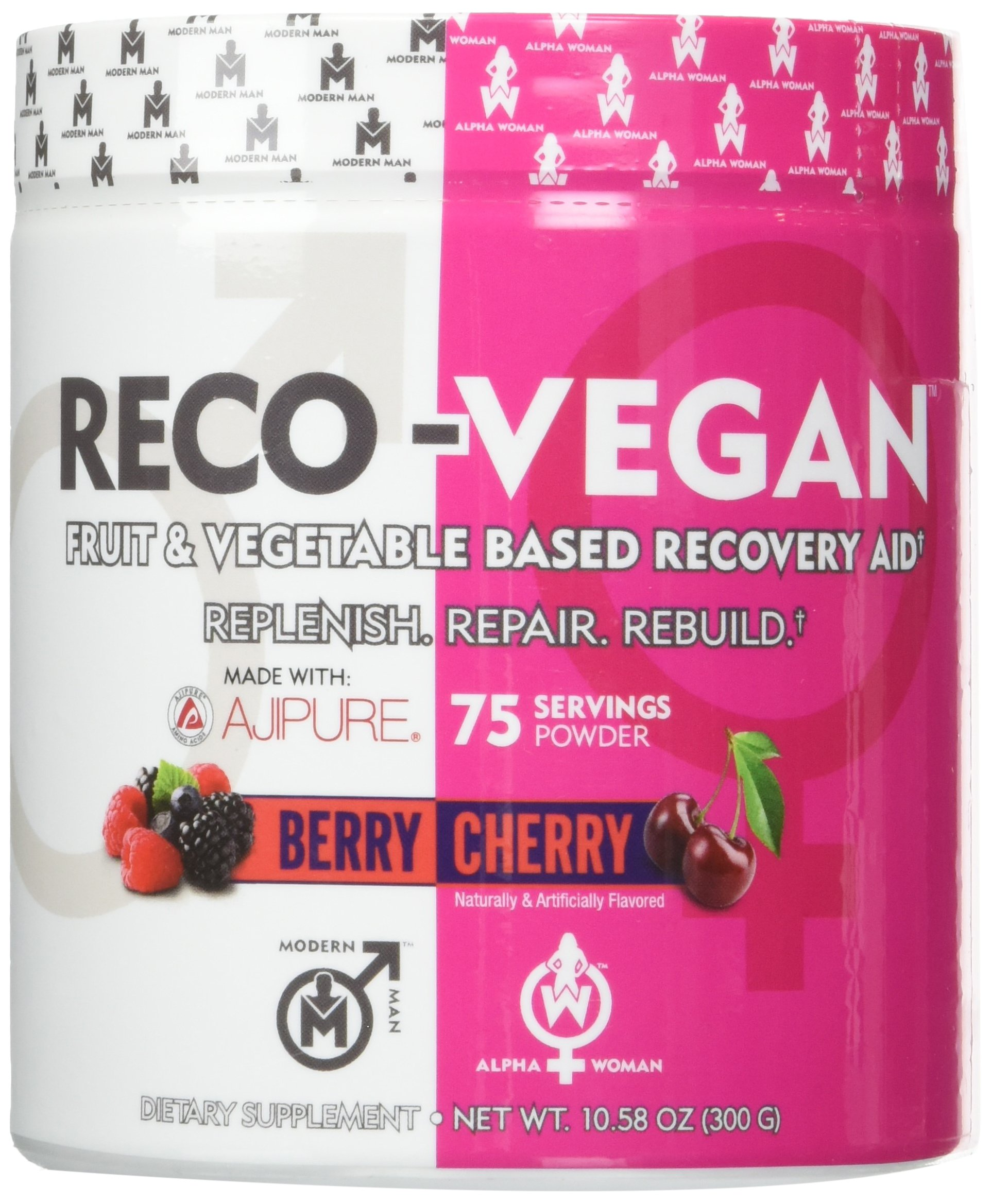 RECO VEGAN - Natural Tart Cherry L-Glutamine Antioxidant Supplement, Post Workout Antioxidants - Daily Metabolism Booster, Joint Pain Relief and Recovery, Berry Cherry, 75 Servings