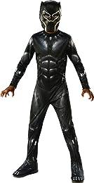 Rubie's Costume Black Panther Child's Costume, Black/Grey, Medium