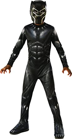 Medium Rubies Deluxe Black Panther Childs Costume Grey