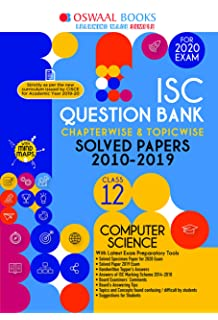 Amazon in: Buy Oswaal ISC Question Bank Class 12 Computer