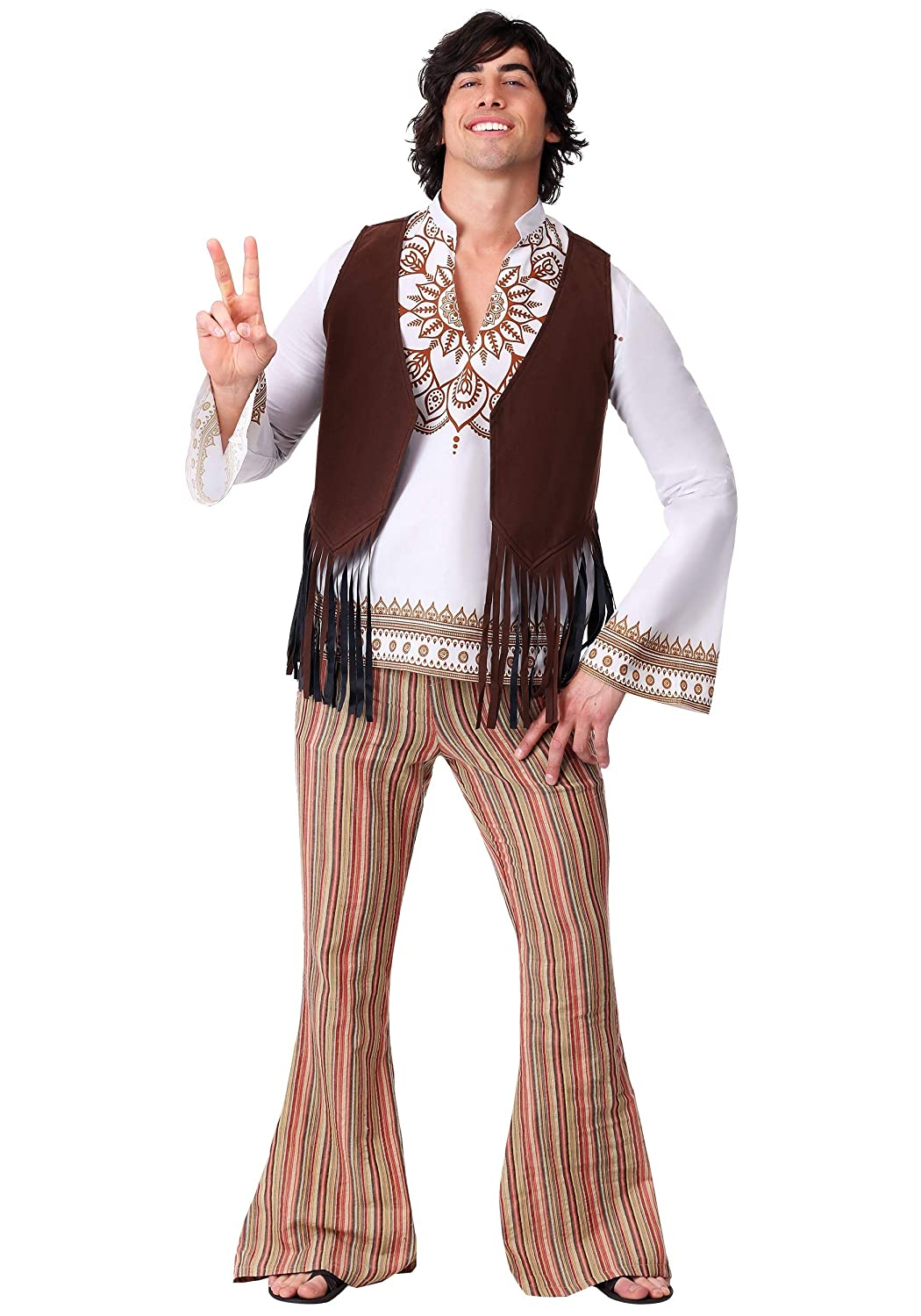 60s , 70s Hippie Clothes for Men Mens Woodstock Hippie Costume $44.99 AT vintagedancer.com