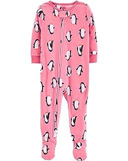 Amazon.com  Carter s Baby Girls  1 Piece Fleece Sleepwear  Clothing 53576d4e6