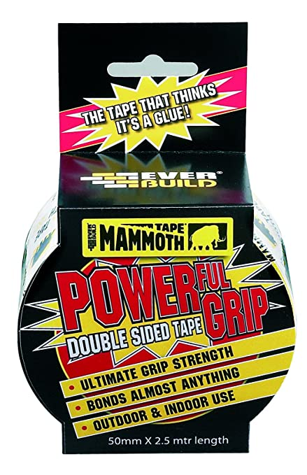 Mammoth Powerful Grip Tape   Re Enforced Double Sided Tape   50mm X 2.5