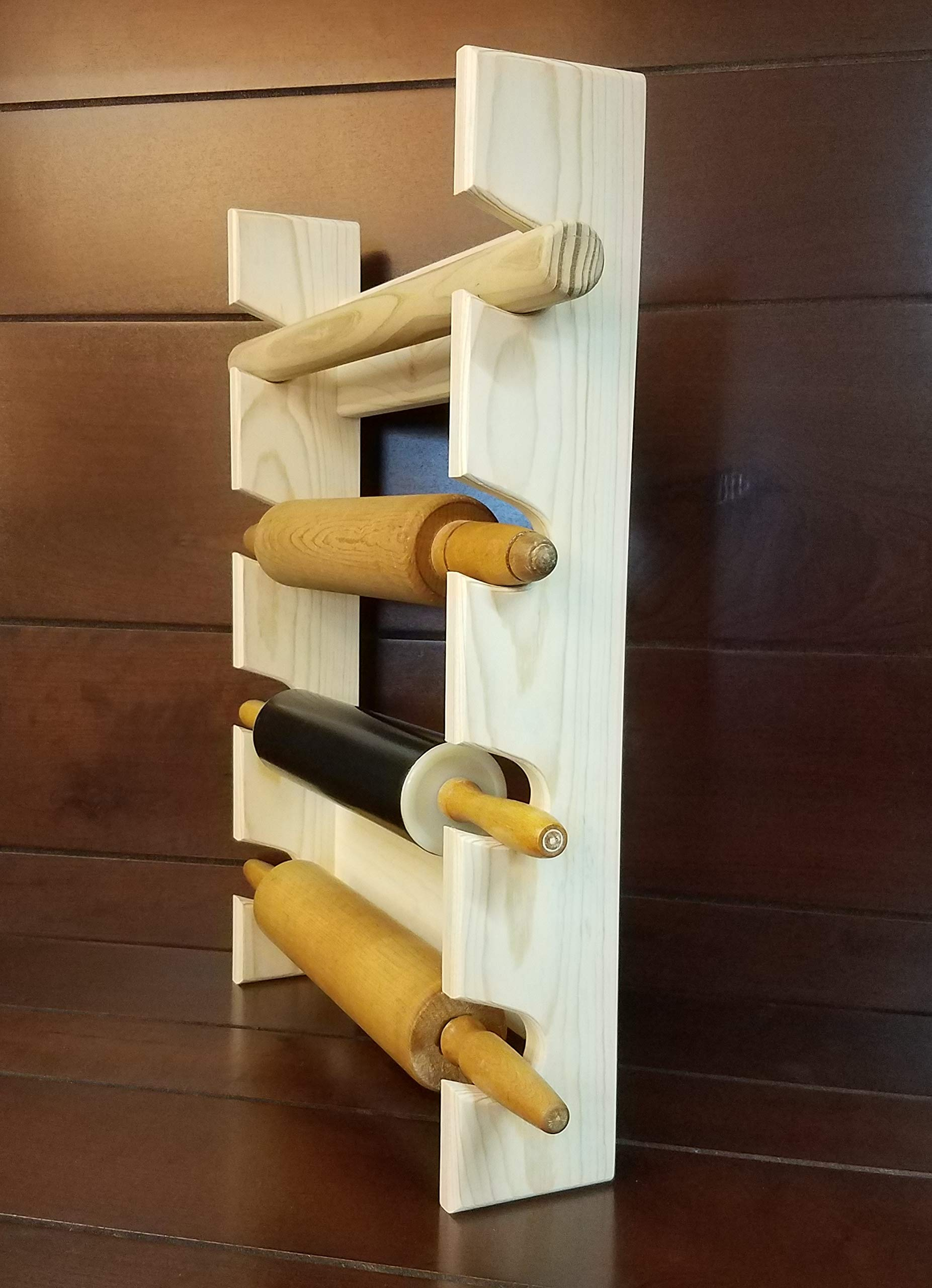Rolling Pin Rack with Four Slots - Multiple Rolling Pin Rack - Rolling Pin Holder - Rolling Pin Storage - 4 Rolling Pin Rack by Rusty Nail Custom Woodworking (Image #2)