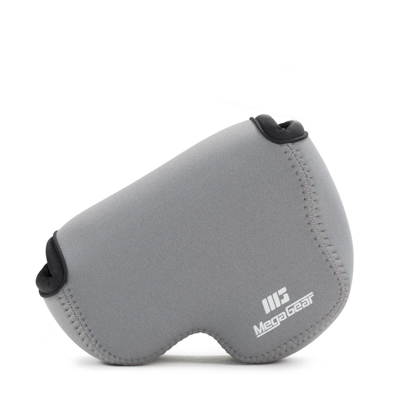 MegaGear ''Ultra Light'' Neoprene Camera Case Bag with Carabiner for Nikon COOLPIX B500 Digital Camera (Gray)