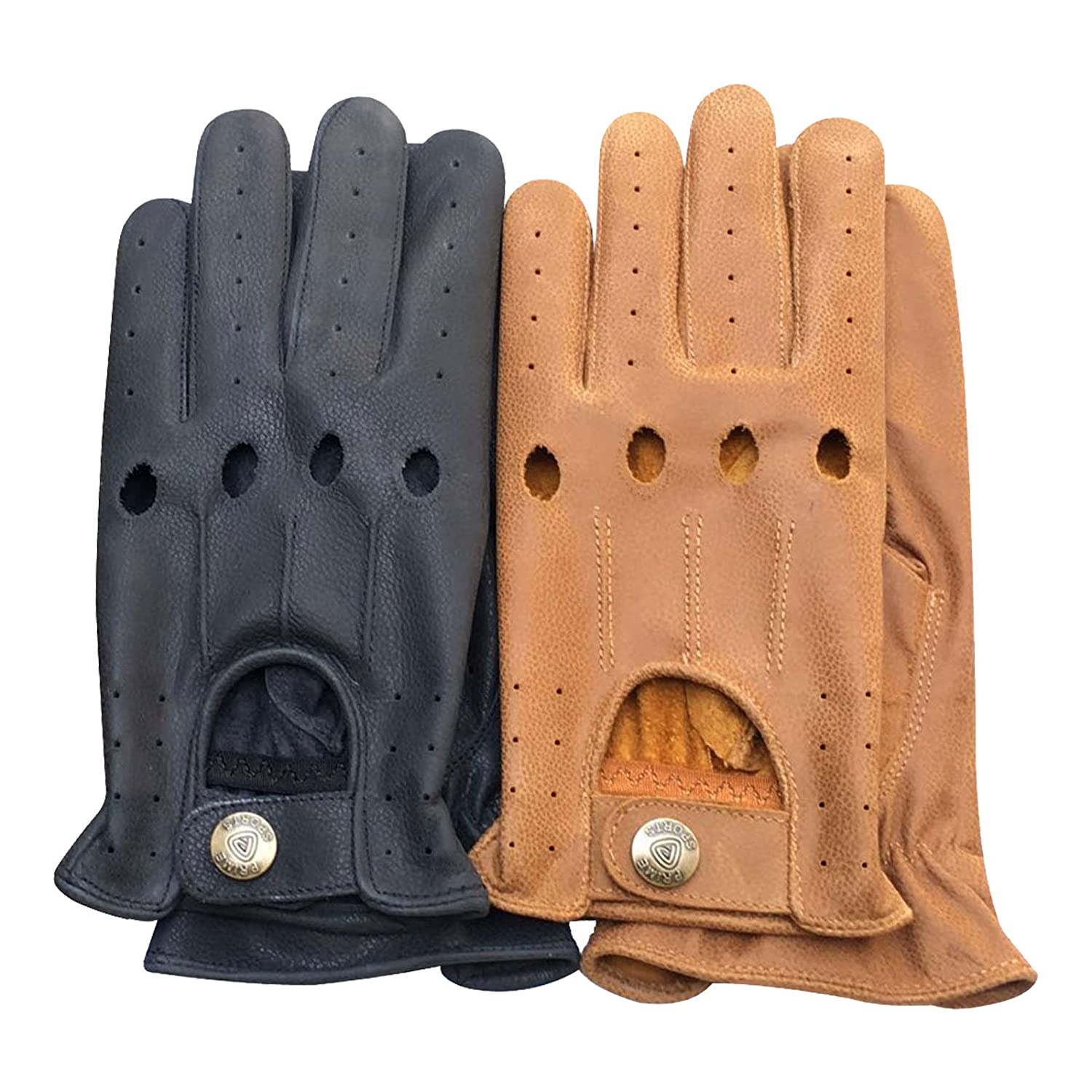 REAL KASHMIRA LEATHER MEN'S STYLISH FASHION DRIVING GLOVES PRIME LEATHER