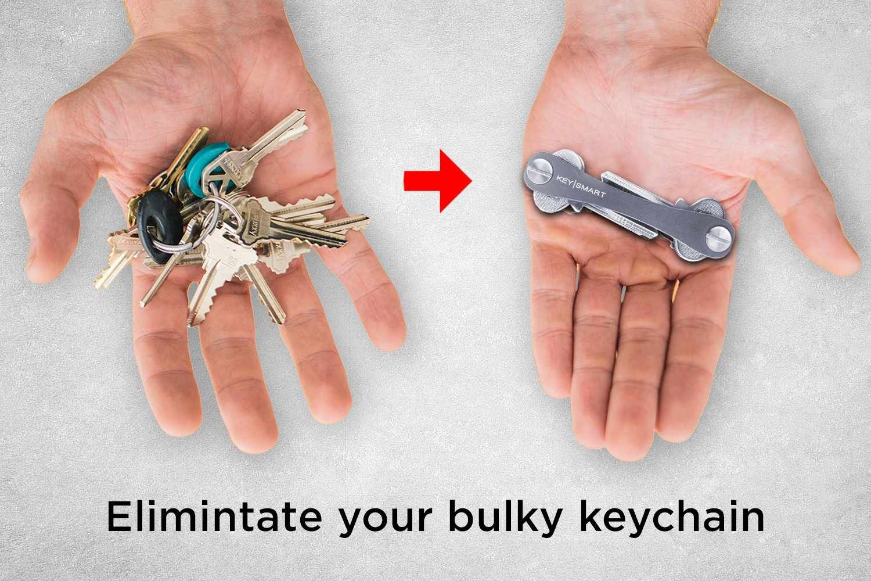 KeySmart Compacto llavero y organizador 2-14 llaves, pizarra