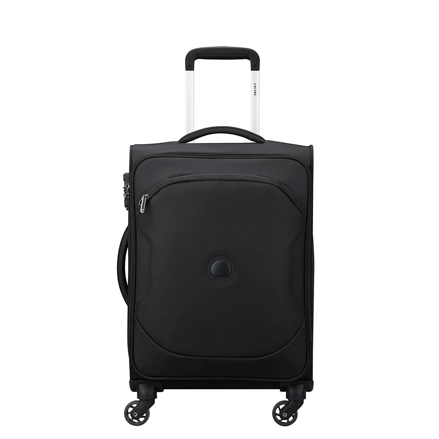 Delsey Polyester 55 Cms Black Softsided Cabin Luggage