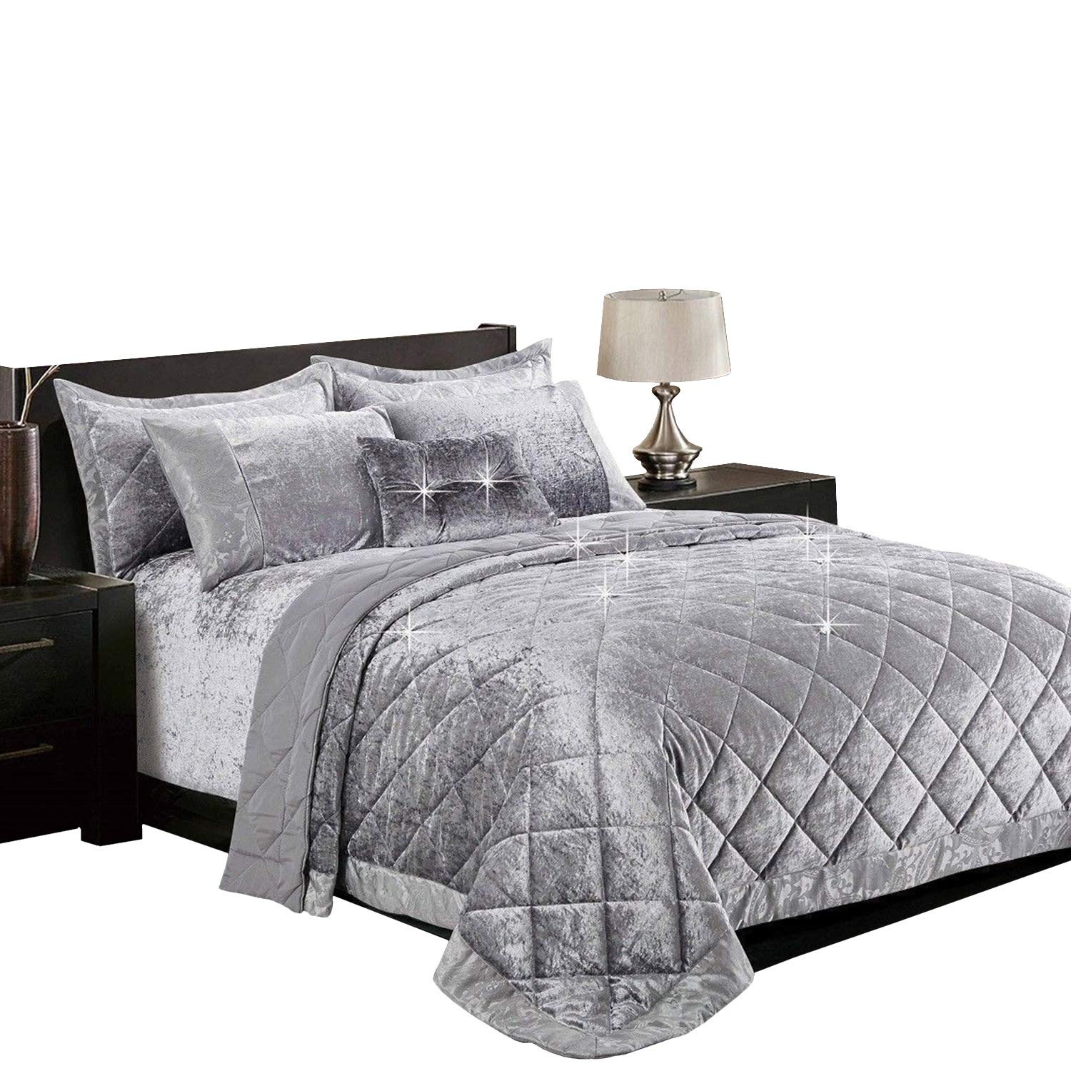 Luxurious 3PCS Jacquard Quilted Bedspread Single,Double,King,SuperKing 22 Colors