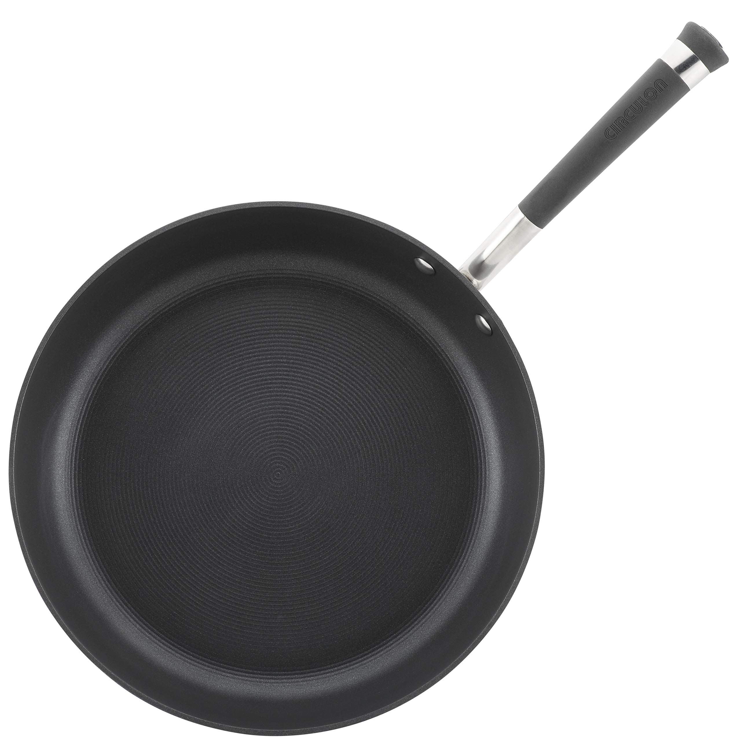 Circulon Acclaim Hard-Anodized Nonstick 12-Inch Covered Deep Skillet, Black by Circulon (Image #3)