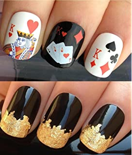 Nailtopia nail stickers las vegas amazon beauty nail decals water transfers art set 157 a sheet of water nail transfers prinsesfo Images