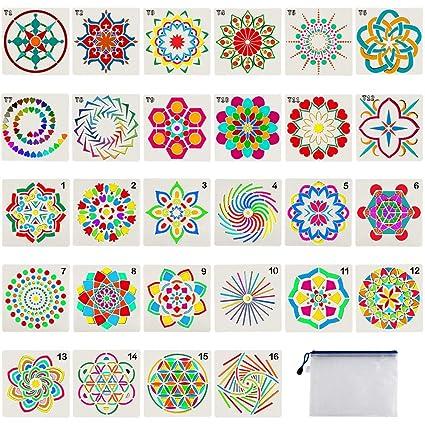 Amazon.com: Plantillas de pintura Mandala Dot para ...
