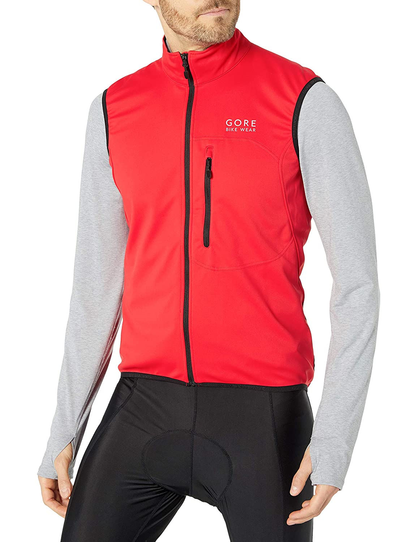 Size: S VWELEM Vest GORE WINDSTOPPER GORE BIKE WEAR Men/'s Soft Shell Cycling Vest Red