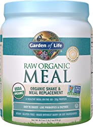 Garden of Life Meal Replacement Lightly Sweet Powder, 14 Servings, Organic Raw Plant Based Protein Powder, Vegan, Gluten-Free
