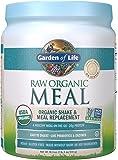 Garden of Life Meal Replacement - Organic Raw Plant Based Protein Powder, Lightly Sweet, Vegan, Gluten-Free, 18.3oz (1lb 2oz / 519g) Powder